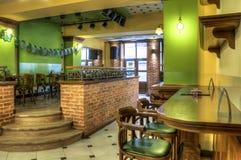 Barra di caffè ed interiore del Pub Immagine Stock Libera da Diritti