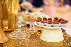 Barra di Candy con le caramelle del tartufo Immagini Stock