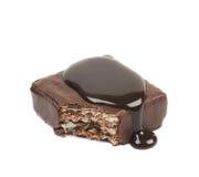 Barra di caramella della cialda del cioccolato isolata Immagine Stock Libera da Diritti