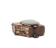 Barra di caramella della cialda del cioccolato isolata Fotografia Stock Libera da Diritti