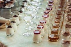 Barra di caramella di nozze con alcool Fotografie Stock