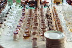 Barra di caramella di nozze con alcool Immagine Stock