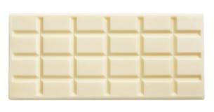 Barra di cioccolata bianca isolata su bianco Fotografie Stock Libere da Diritti