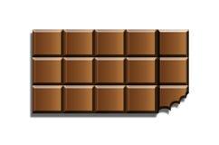 Barra di cioccolato Immagini Stock