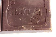 Barra di cioccolato del primo piano Fotografia Stock Libera da Diritti