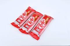 Barra di cioccolato di kat del corredo di Nestle Fotografia Stock Libera da Diritti