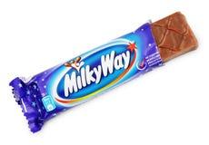 Barra di cioccolato non imballata della caramella della Via Lattea Fotografia Stock Libera da Diritti