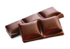 Barra di cioccolato rotta Immagini Stock