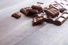 Barra di cioccolato scura Immagine Stock
