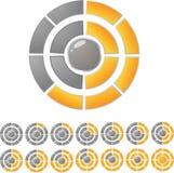 Barra di download del cerchio illustrazione di stock