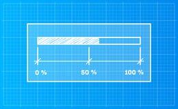 Barra di download di Digiral su un fondo del modello Fotografia Stock