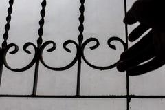 Barra di finestra della tenuta della mano Immagini Stock Libere da Diritti