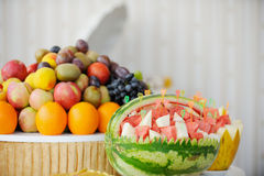 Barra di frutta immagini stock