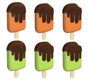 Barra di gelato del cioccolato Fotografia Stock Libera da Diritti