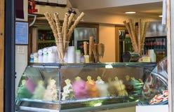 Barra di gelato italiana Fotografie Stock Libere da Diritti