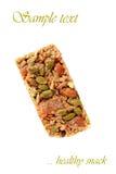 Barra di granola dell'albicocca della mandorla Fotografie Stock