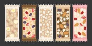 Barra di granola e del cereale Fotografia Stock