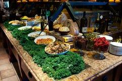 Barra di insalata gastronomica brasiliana Immagine Stock