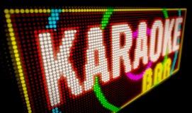 Barra di karaoke Immagine Stock