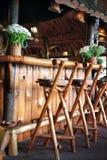 Barra di legno immagini stock