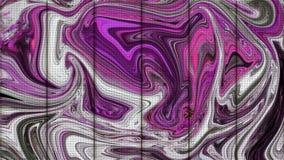 Barra di metallo con il fondo liquido dei graffiti dell'onda di colore Parete di piastra metallica di acciaio inossidabile e d'ac illustrazione di stock