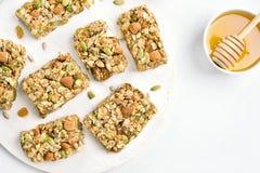 Barra di nutrizione, granola immagini stock