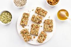Barra di nutrizione, granola immagini stock libere da diritti