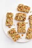 Barra di nutrizione, granola immagine stock