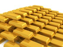 Barra di oro Immagini Stock Libere da Diritti