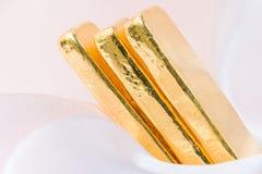 Barra di oro (lingotto dell'oro) Immagini Stock
