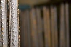 Barra di rinforzo del metallo Fotografie Stock