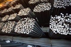 Barra di rinforzo del pacco Rinforzo d'acciaio Priorità bassa industriale Fotografia Stock Libera da Diritti