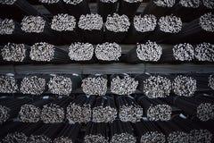 Barra di rinforzo del pacco Rinforzo d'acciaio Priorità bassa industriale Immagini Stock Libere da Diritti