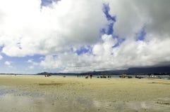 Barra di sabbia della baia di Kane'ohe Immagine Stock