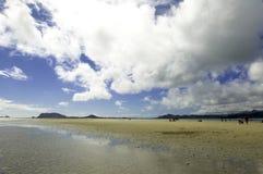 Barra di sabbia della baia di Kane'ohe Immagini Stock