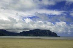 Barra di sabbia della baia di Kane'ohe Fotografia Stock Libera da Diritti