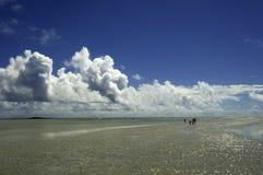 Barra di sabbia della baia di Kane'ohe Fotografia Stock