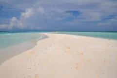 Barra di sabbia nei Maldives Fotografia Stock Libera da Diritti