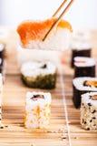 Barra di sushi tradizionale Fotografia Stock Libera da Diritti