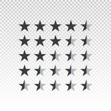 Barra di valutazione della stella di forma di vettore isolata su fondo trasparente Elemento per progettazione il vostro sito Web  Immagine Stock