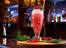 Barra di vetro di cocktail Fotografia Stock