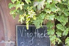 Barra di vino del segno Immagini Stock