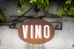 Barra di vino in Italia Fotografie Stock