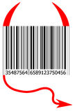 Barra do código do diabo Imagens de Stock Royalty Free