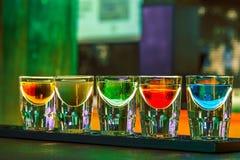 Barra do cocktail dos tiros Fotos de Stock