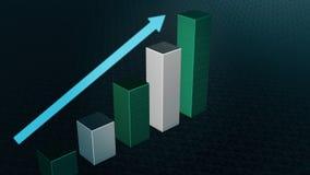 Barra do gráfico, diagrama de Infographic, carta 3D rendido Imagem de Stock