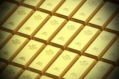Barra do ouro em um fundo branco ilustração stock