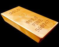 Barra do ouro puro Fotos de Stock Royalty Free