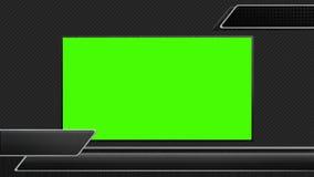 Barra do ponto baixo três preto terceira para o estilo de transmissão 2 video estoque