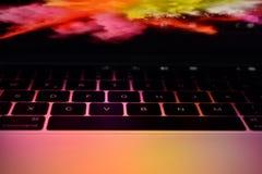Barra do toque de Mac Book Pro 15 Zoll fotografia de stock royalty free